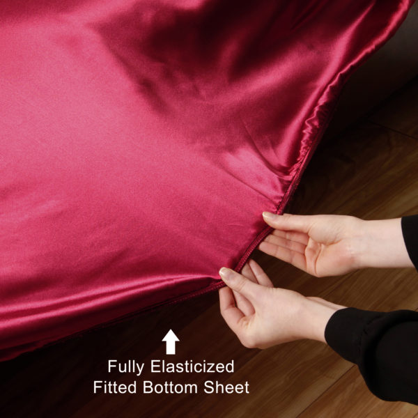 Satin Sheets Fully Elasticized Fitted Bottom Sheet