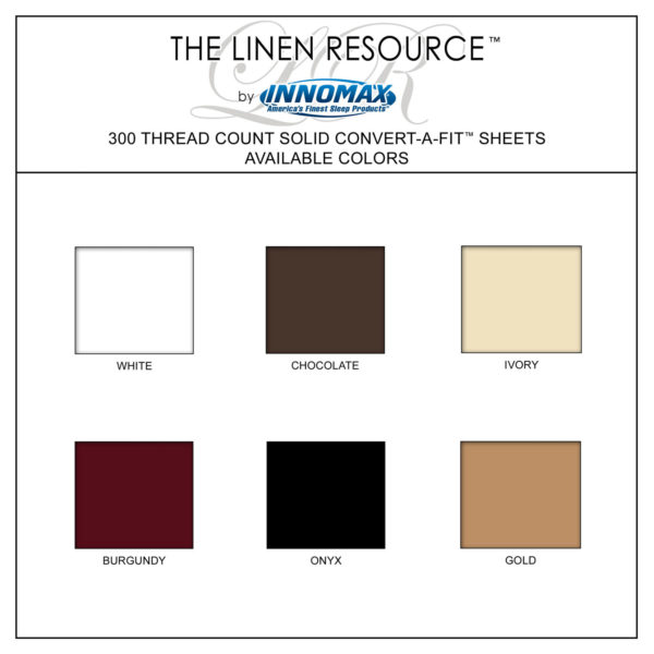 300 Thread Count Solid Sheets Available Colors