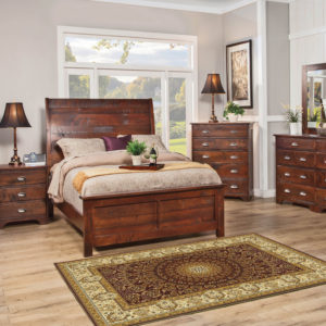 Studio Design Camden Sleigh Bed Solid Wood Bedroom Furniture Collection