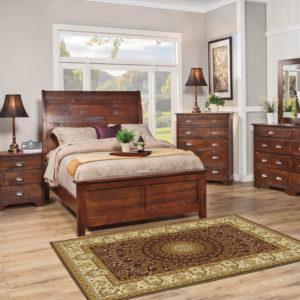 Studio Design Camden Sleigh Bed Solid Wood Bedroom Furniture Collection