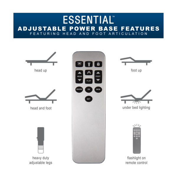 Essential Adjustable Power Base Features