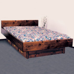 Quality Pine Briarwood 5 Board Waterbed Frame