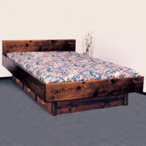 Quality Pine Briarwood 5 Board Waterbed Frame