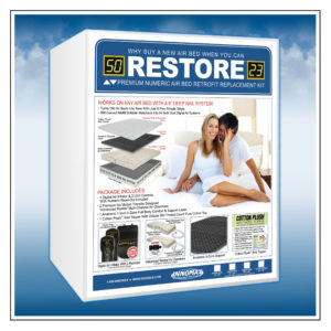 Restore Premium Numeric Softside Digital Air Bed Retrofit Replacement Kit