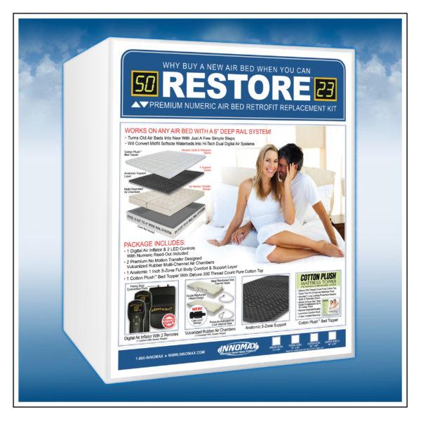 Restore Premium Numeric Softside Digital Air Bed Retrofit Replacement Kit