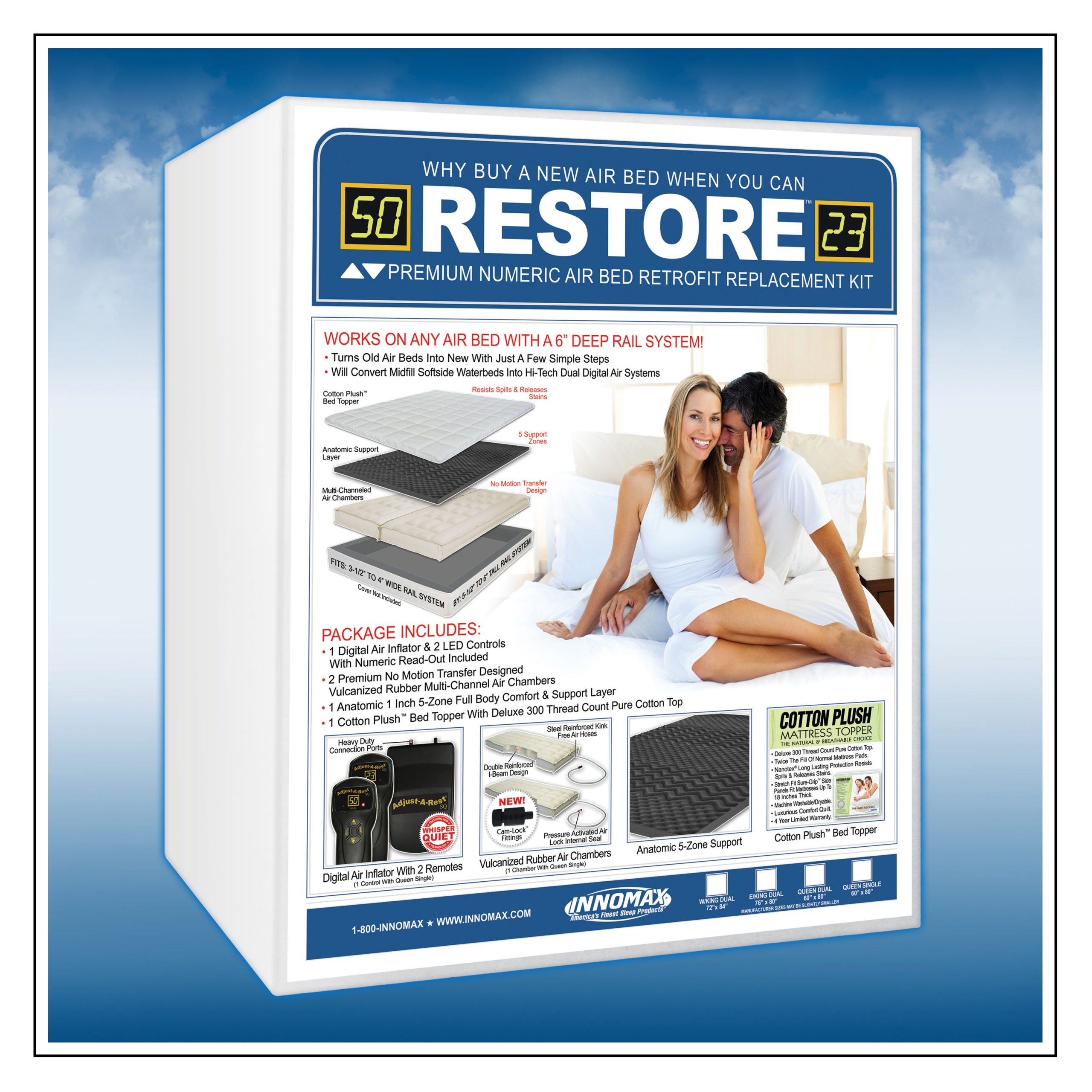 Picture of: Restore Premium Air Bed Upgrade Or Replacement Kit Innomax