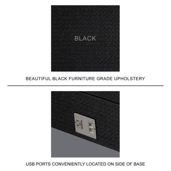 Ultra Adjustable Power Base Upholstery & USB Ports