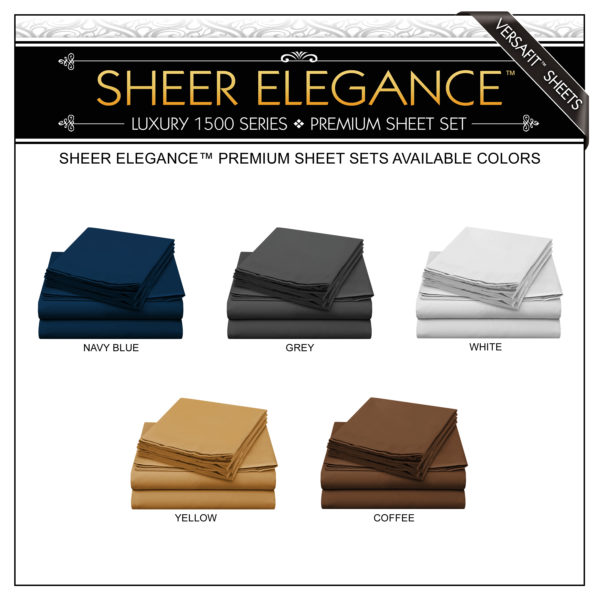 Sheer Elegance Premium Sheets Available Colors