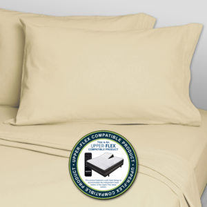 Upper-Flex Compatible Solid 300 Thread Count Extra Deep Pocket Sheets