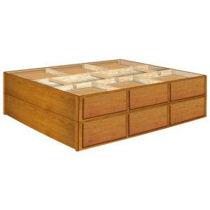 24 Inch 12 Drawer Pedestals Double Stacked