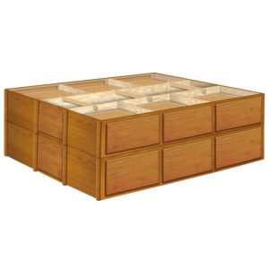 28 Inch 12 Drawer Pedestals Double Stacked