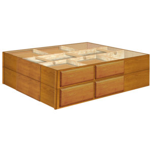 18 Inch 8 Drawer Pedestals Double Stacked