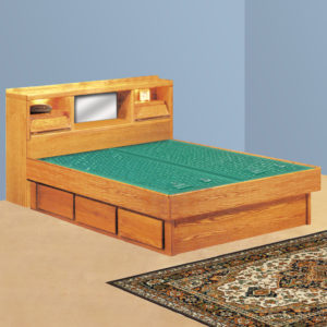 InnoMax Oak Land Coronado Headboard Only Waterbed In Bedroom