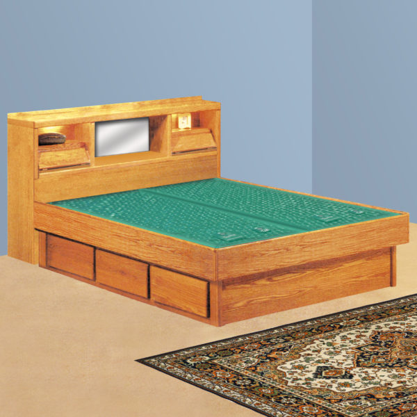 InnoMax Oak Land Coronado Headboard Only Waterbed In Bedroom