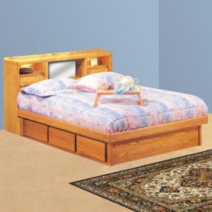 InnoMax Oak Land Coronado Bookcase Headboard Only In Bedroom