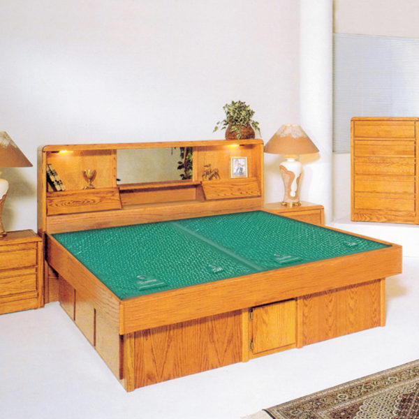 InnoMax Oak Land Jasmine Headboard Waterbed In Bedroom
