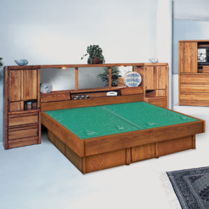 InnoMax Oak Land La Jolla Wall Unit Waterbed In Bedroom
