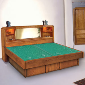 Oak Land Marathon Headboard Waterbed In Bedroom