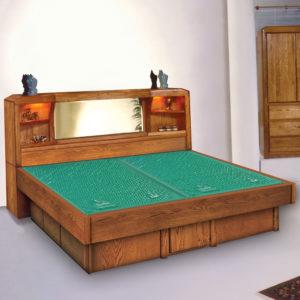 Oak Land Marathon Headboard Waterbed In Bedroom