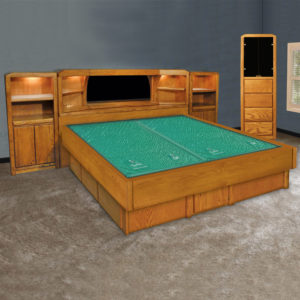 Oak Land Marathon Mid-Wall Unit Waterbed In Bedroom