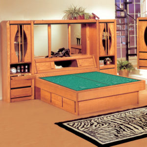 Oak Land Matrix Wall Unit Waterbed In Bedroom