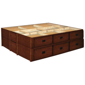 Oak Land Mission Creek 28 Inch 12 Drawer Pedestals Double Stacked