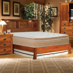 InnoMax Oak Land Mission Creek Platform Bed With Bookcase Headboard