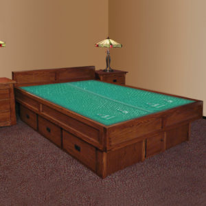 InnoMax Oak Land Mission Creek 5-Board Waterbed In Bedroom