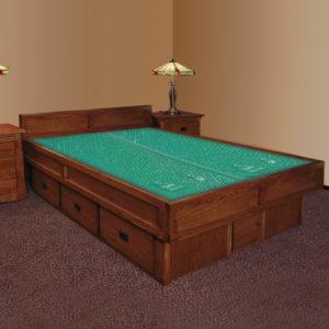 InnoMax Oak Land Mission Creek 5-Board Waterbed In Bedroom