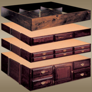 PINE WATERBED PEDESTALS & RISERS