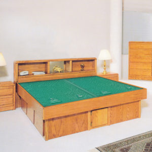 InnoMax Oak Land Tulip Headboard Waterbed In Bedroom
