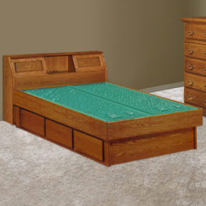 InnoMax Oak Land Venetian Bookcase Headboard Waterbed In Bedroom