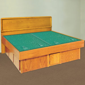 InnoMax Oak Land La Jolla Panel Headboard Waterbed In Bedroom