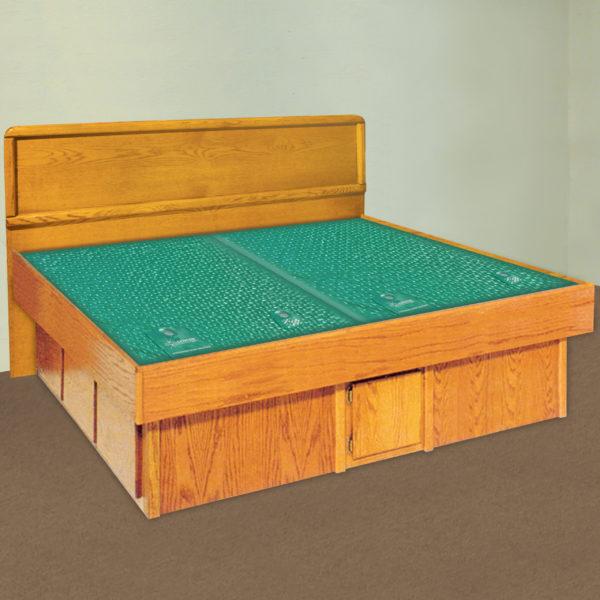 InnoMax Oak Land La Jolla Panel Headboard Waterbed In Bedroom