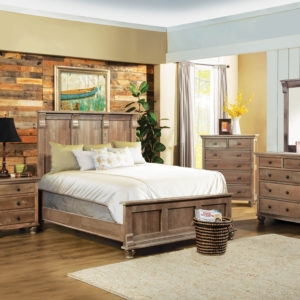 Studio Design Athens Panel Bed Solid Wood Bedroom Furniture Collection