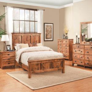 Studio Design Northwoods Panel Bed Solid Wood Bedroom Furniture Collection
