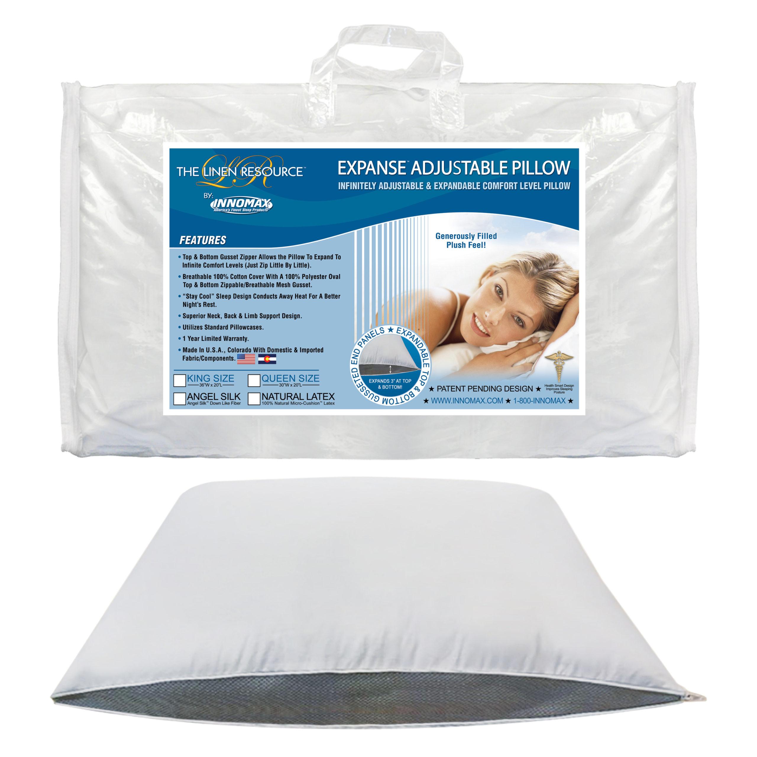 New Innomax Angel Silk Premium Down Like Plush Pillow