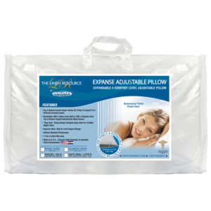 Expanse Adjustable Micro-Latex Pillow In Package