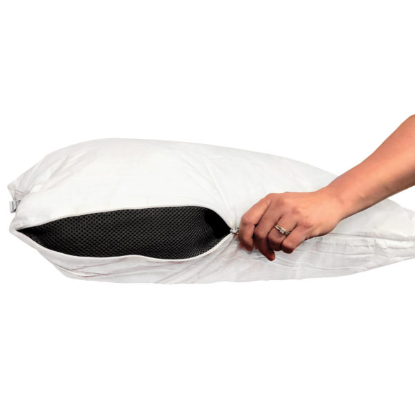 Linen Resource Expanse Pillow Un-Zipping