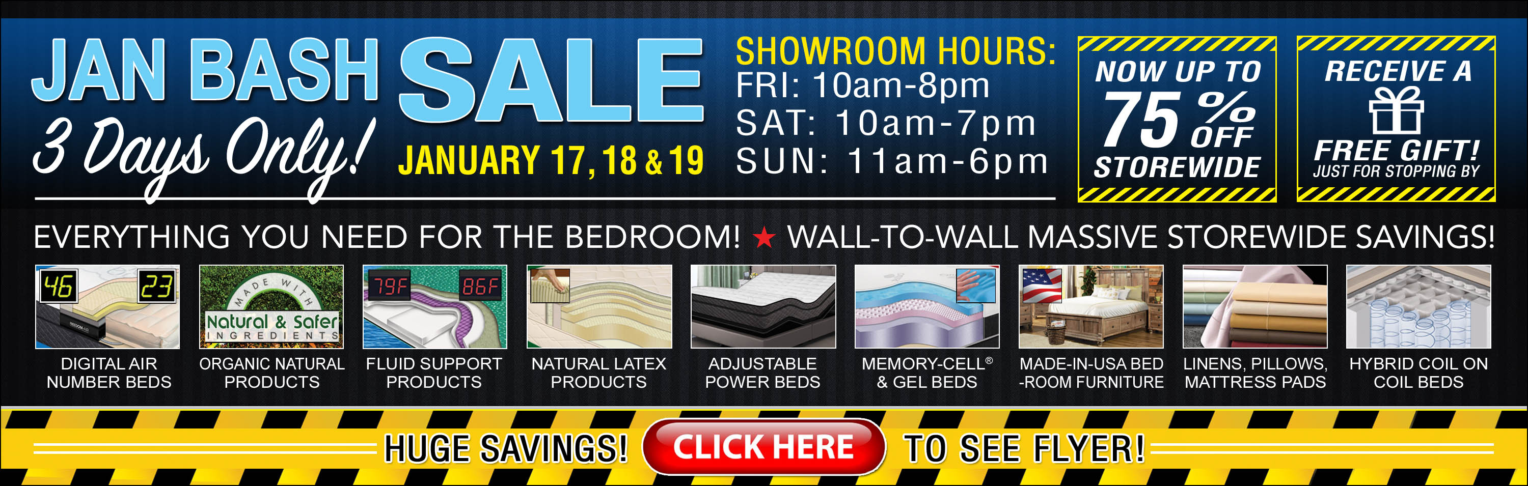 InnoMax Jan Bash Sale Going On Now Stop By To Save Big On Everything You Need For The Bedroom Slide 1