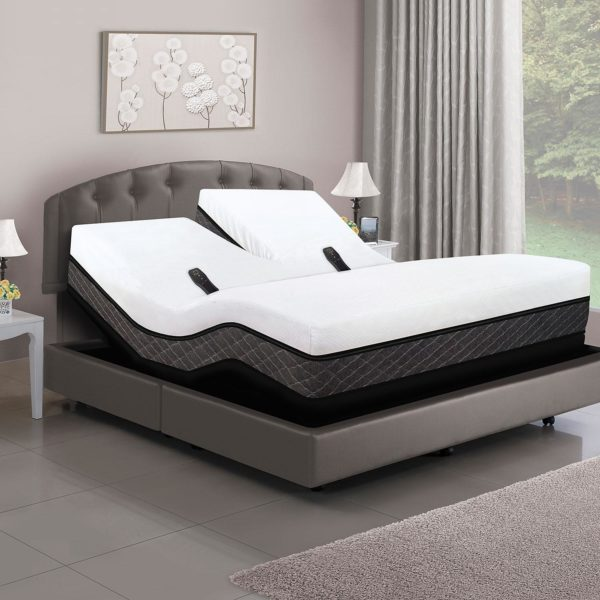 Dual Head Smart Bed with Adjustable Dual Air & Power Base