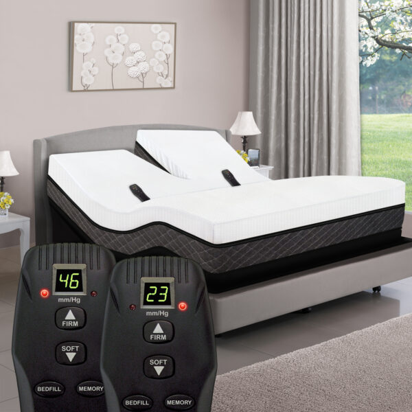 Dual Head Smart Airbed Mattress with Power Base