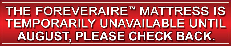 Foreveraire Mattress Temporarily Unavailable Banner