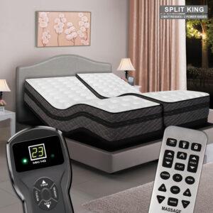 Millennium Digital Air Bed & Premium Adjustable Power Base - Split King