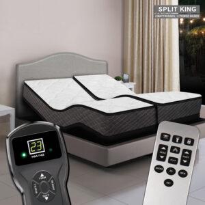 Princeton Digital Air Bed & Premium Adjustable Power Base - Split King