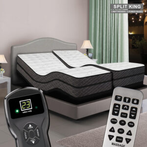Reflections Digital Air Bed & Premium Adjustable Power Base - Split King