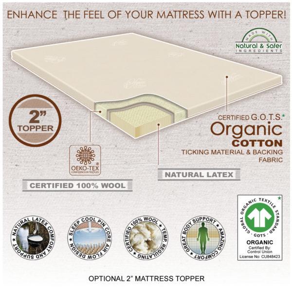 """Optional 2"""" Latex Mattress Topper"""