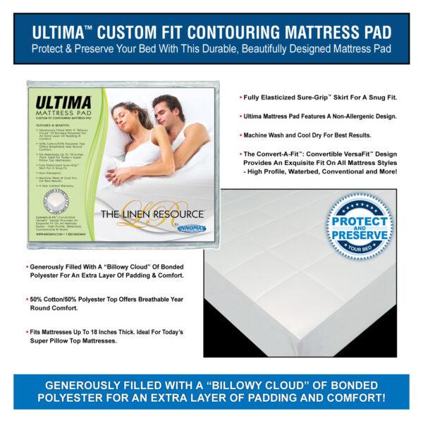 Ultima Custom Fit Contouring Mattress Pad