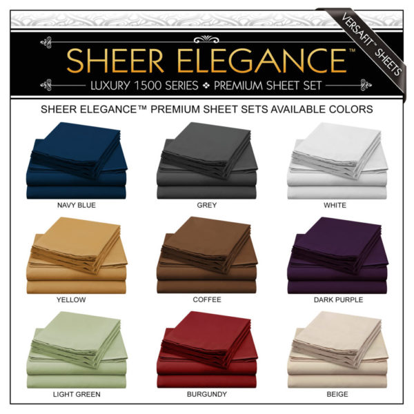 Sheer Elegance Available Sheet Colors