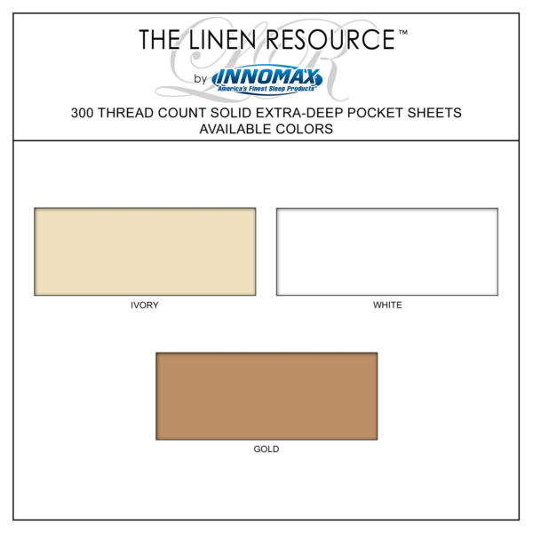 Solid 300 Thread Count Extra Deep Pocket Sheets Available Colors